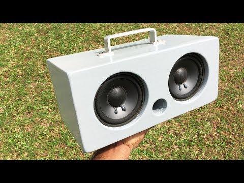 DIY Bluetooth Speaker 25W+25W using TDA7492P Amplifier - How To Build - Woodworking