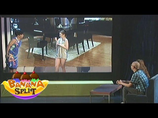 Banana Split: Banana Split cast act in human size TV