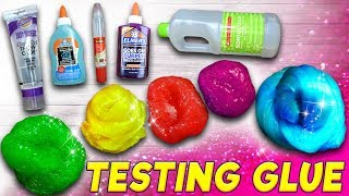 Clear Slime Glue Challenge! $2 vs $12 Which Glue Makes the Best Slime?