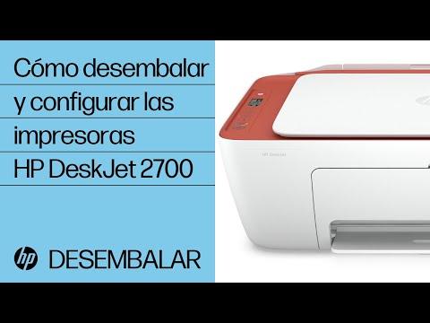 Cómo desembalar y configurar las impresoras HP DeskJet 2700 y DeskJet Plus 4100 | Impresoras HP | HP