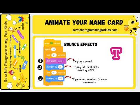 How to Animate Your Name on Scratch (Step-by-Step Scratch 3.0 Tutorial)