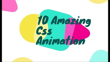 10 amazing pure css animation effect (without javascript)