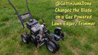 How to Change the Blade on a Gas Powered Edger/Trimmer by @GettinJunkDone