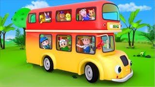 as rodas do onibus em portugues   rimas de berçário   Wheels On The Bus