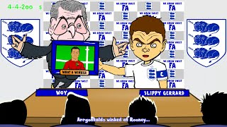 STEVEN GERRARD RETIREMENT by 442oons (Gerrard England Gerrard retires - football cartoon)