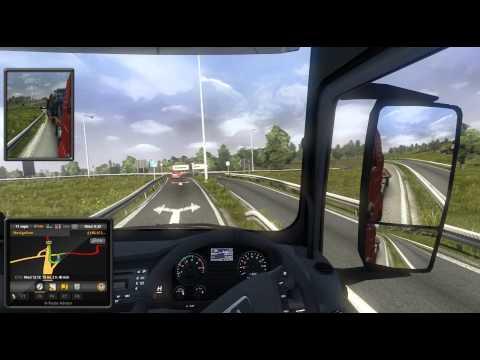 Euro Truck Simulator 2, Felixtowe UK to Calais France.