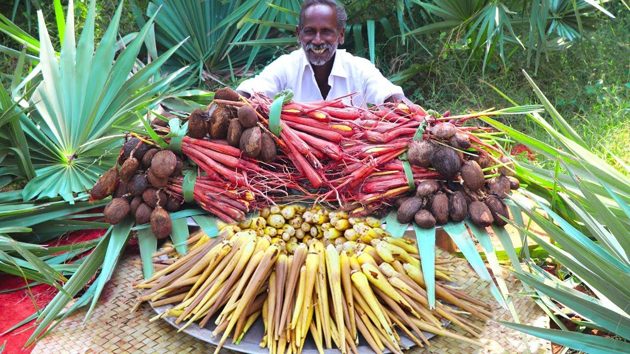 PALMYRA TUPER PUTTING RECIPE | Panankilangu Puttu | Village Traditional Food |prepare by KARUPPASAMI