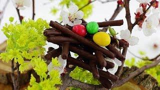 """Праздничный десерт """"пасхальные гнёзда"""""""