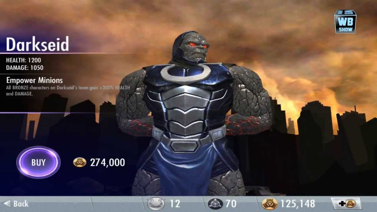Injustice Gods Among Us Darkseid Battle Challenge Youtube