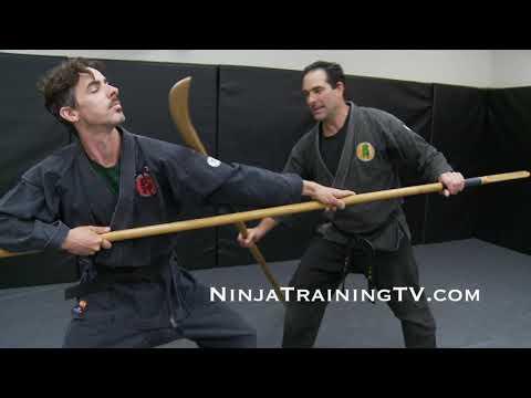 Feudal Japanese Battlefield Fighting Form for Naginata vs Yari for Bujinkan Ninjutsu Training