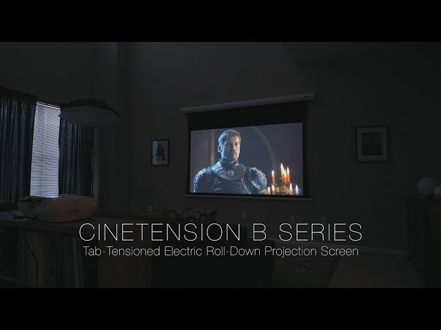 Elite Screens CineTension B Tab-Tensioned, Motorized Projection Screen