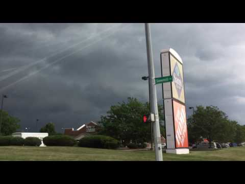 Severe storm clouds over Columbus, Ohio this afternoon! 7-7-2017