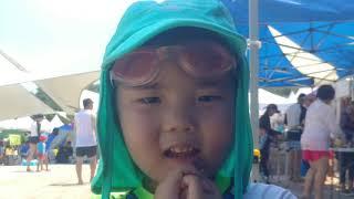 선우남매 가족 야외수영장 놀이~^^