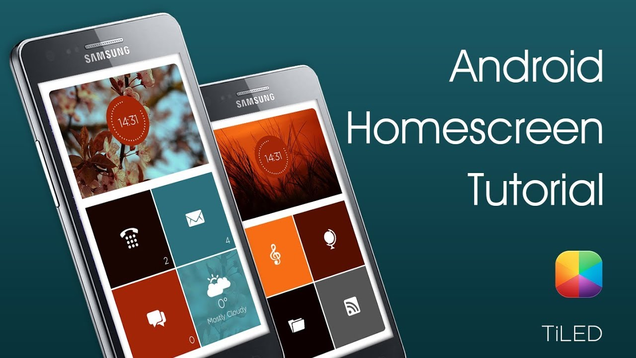 TiLED (GaRyArTs) - Android Homescreen Tutorial - YouTube