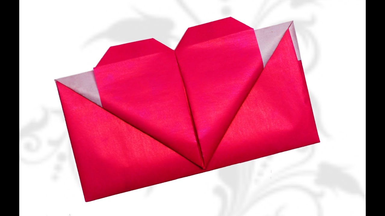 diy crafts origami heart envelope valentines day diy beauty and easy youtube