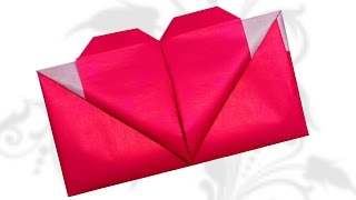 DIY Crafts - Origami Heart Envelope Valentine's Day / DIY beauty and easy
