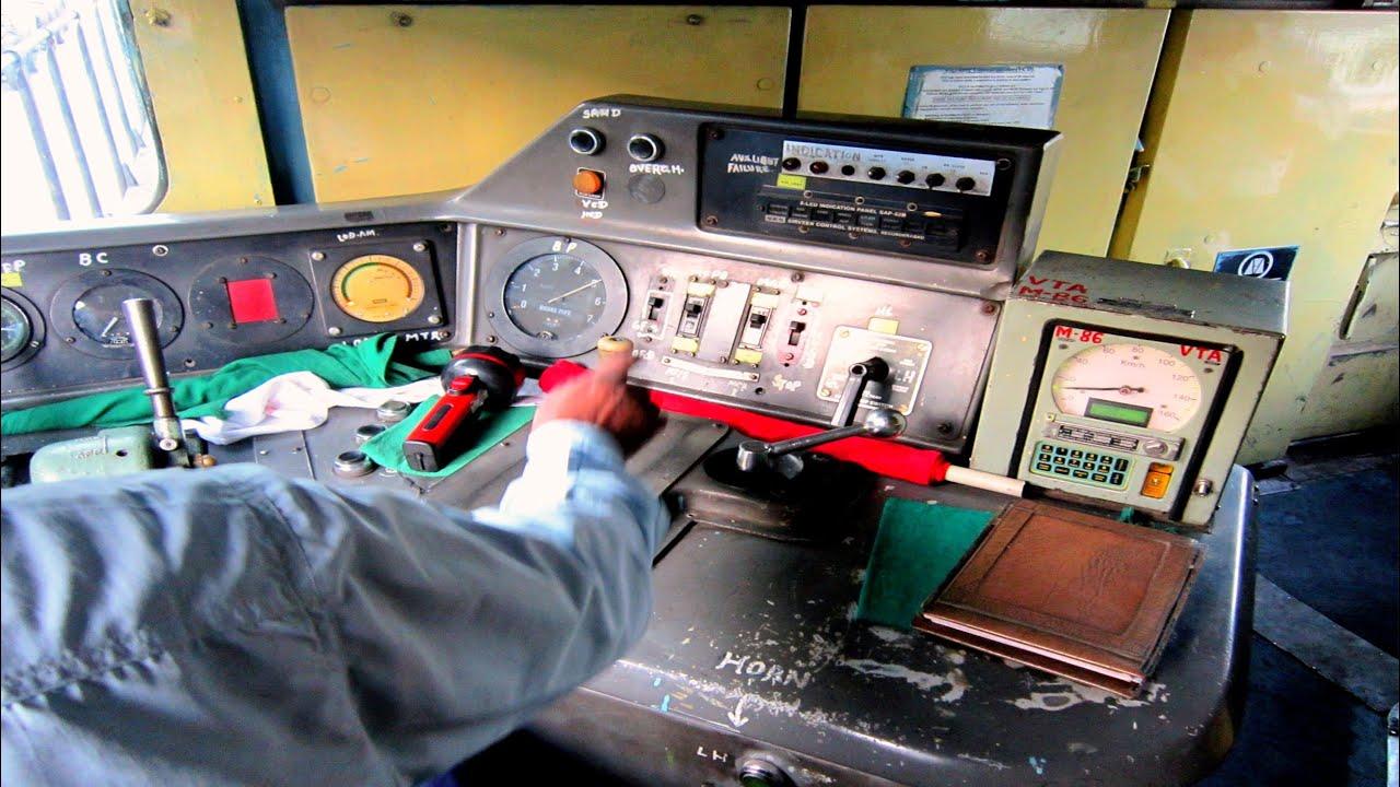 Inside Quot Rajdhani Express S Locomotive Quot Alco Wdm3d Ride