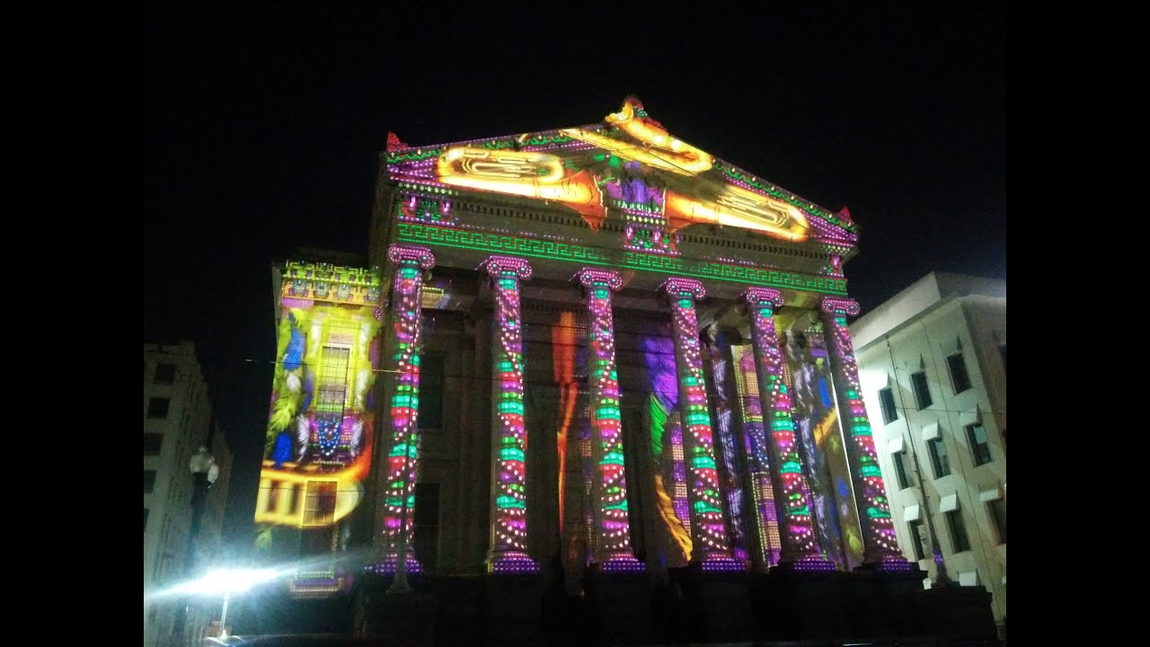 Luna Fete Video Animation Show at Gallier Hall, New ...