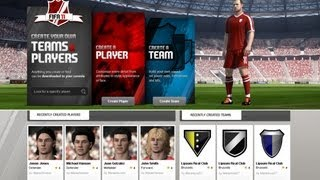 FIFA Creation Centre Tutorial #2 HOW TO CREATE A TEAM & TOURNAMENT for Career mode also