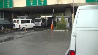 Bulgarische Grenze von Griechenland 1  Mit dem LKW