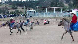 Carrera de caballos en el caserio sapun alto huancabamba piura