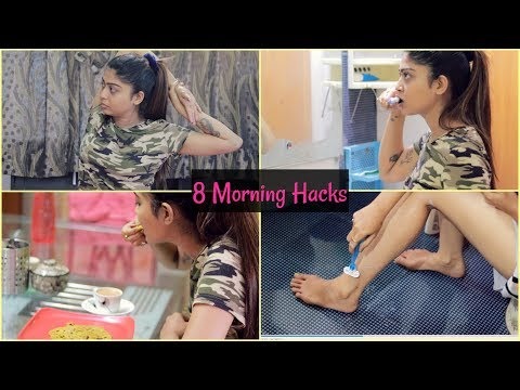 8 Daily Morning HACKS Every Girl MUST Try - College, School & Office Girls | Rinkal Soni