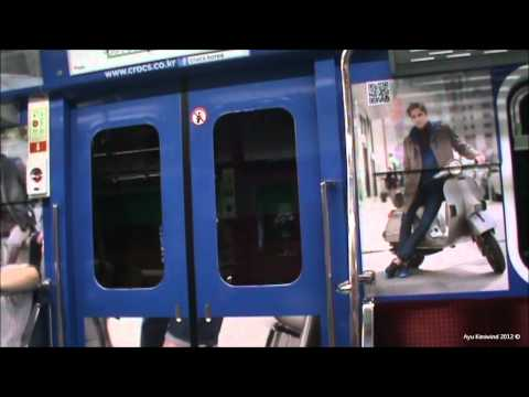 Seoul Subway Line 2 (Green Line) - From Jamsil Station to Hongik University (2012) HD