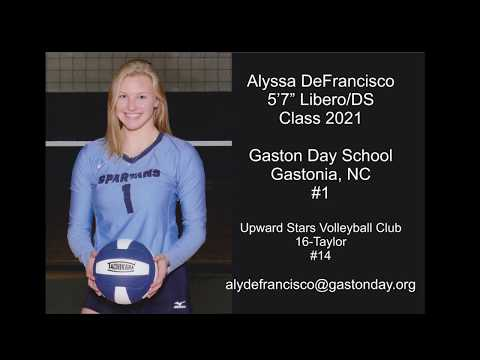 Aly DeFrancisco Libero/DS Class of 2021 Gaston Day vs Caldwell Academy