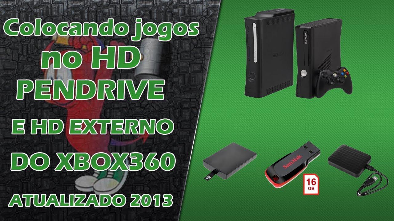 Colocando jogos no hd pendrive e hd externo do xbox 360 for Hd esterno xbox 360