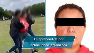 """Martha """"P"""" fue ubicada y detenida en un inmueble del Sector Arboledas de la ciudad de Matamoros por elementos de la Fiscalía General de la República y de la Marina Armada de México"""