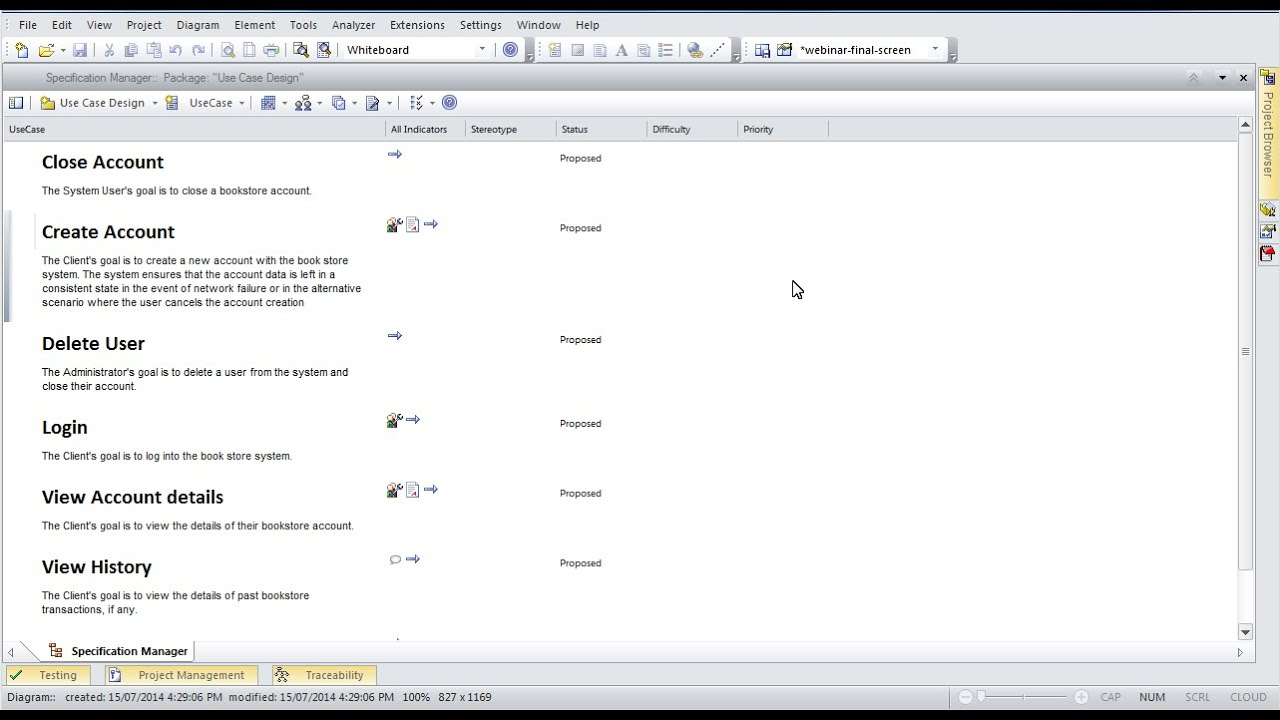 Requirements management using enterprise architect s specification manager youtube