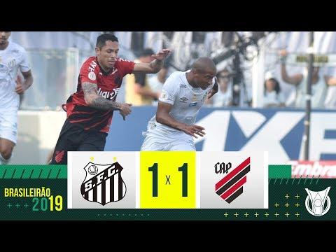 SANTOS 1 x 1 ATHLETICO-PR - Melhores Momentos - Brasileirão 2019 (08/09/2019)