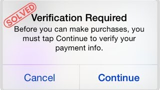 How to fix *VERIFICATION REQUIRED* in App Store actual method *2019*