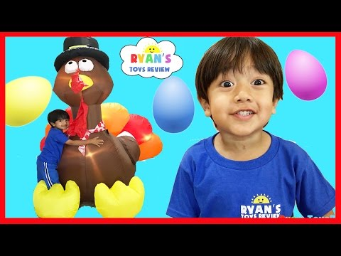 Thumbnail: HUGE SURPRISE EGGS OPENING THANKSGIVING TURKEY Disney Toys Mr Potato Head Spiderman Mickey Mouse