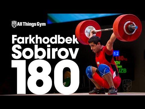 Farkhodbek Sobirov (94kg, Uzbekistan, 19y/o) 180kg Snatch 2017 Junior Worlds