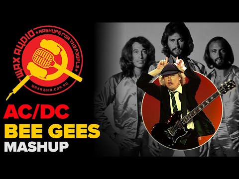 Stayin in Black The Bee Gees + ACDC Mashup  Wax Audio
