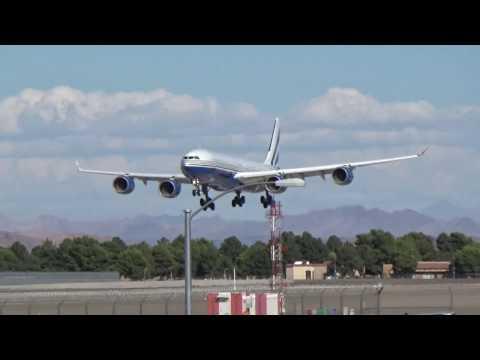 Las Vegas Sands Corp. A340-541(VP-BMS) arrives at Las Vegas!