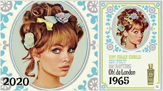 60s makeup & hair tutorial with REAL VINTAGE makeup! jackie wyers
