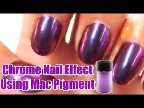 DIY HACK 😱 How To Make Chrome Nail Effect Using Mac Pigment