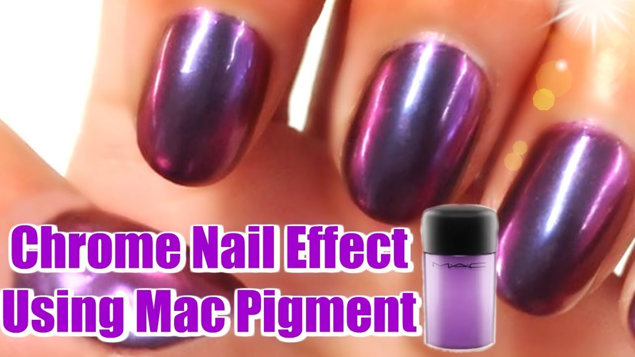 DIY HACK 😱 How To Make Chrome Nail Effect Using Mac Pigment - YouTube