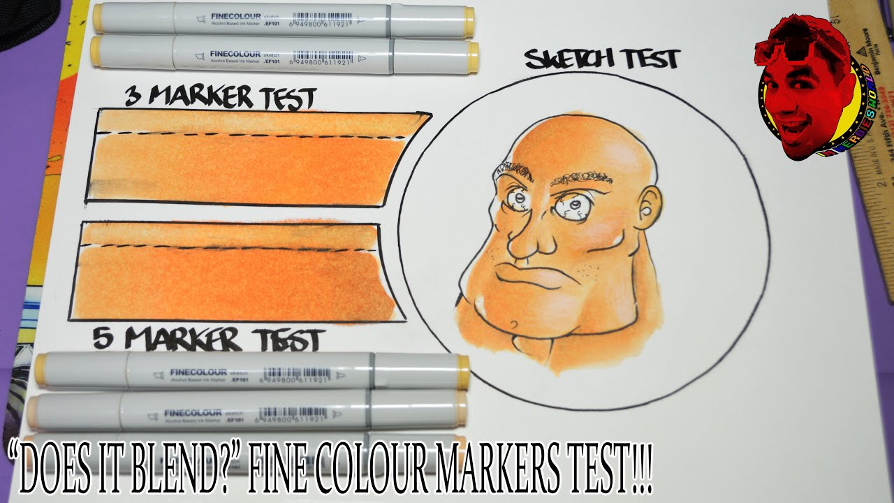 finecolour markers blend test tutorial skin tone colors youtube - Skin Color Markers