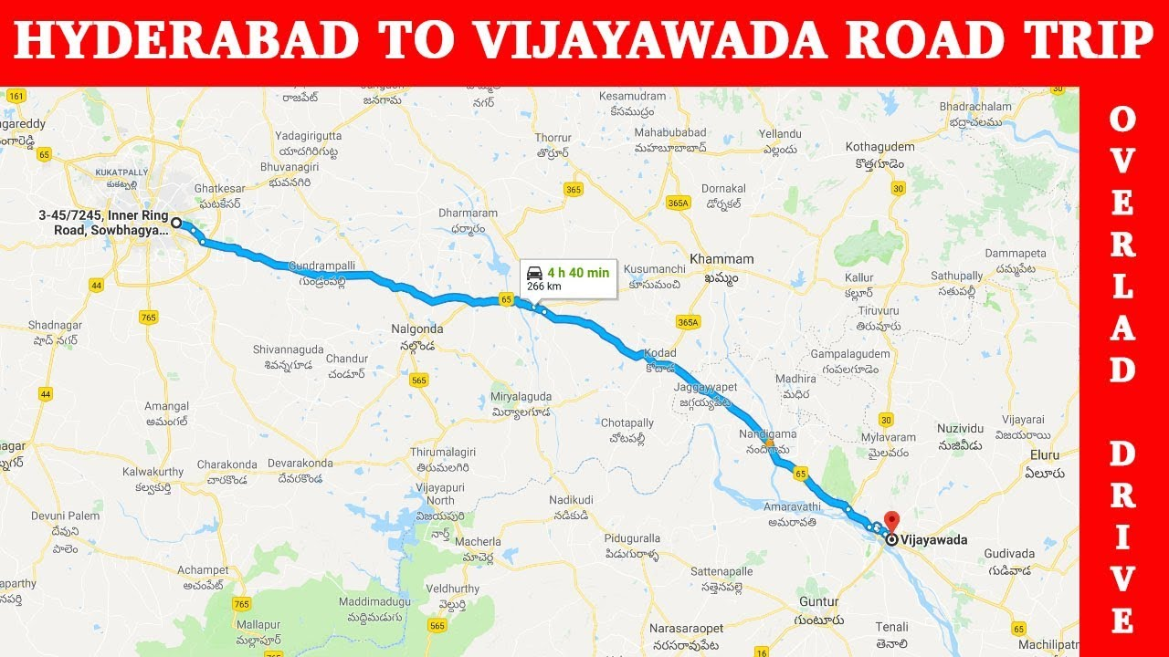 Hyderabad to Vijayawada Road Trip in 30 Minutes YouTube