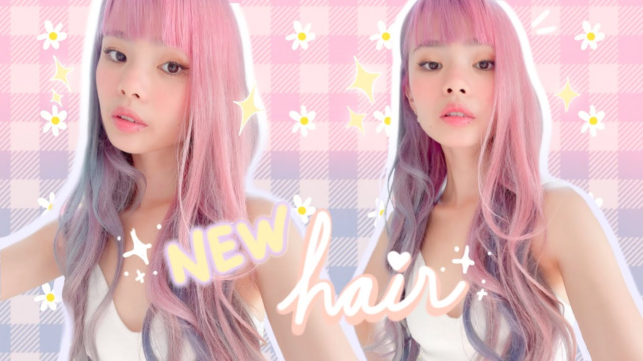 hair transformation! pastel pink, blue & purple melt 💗💜💙 + how to get rid of stained green hair!