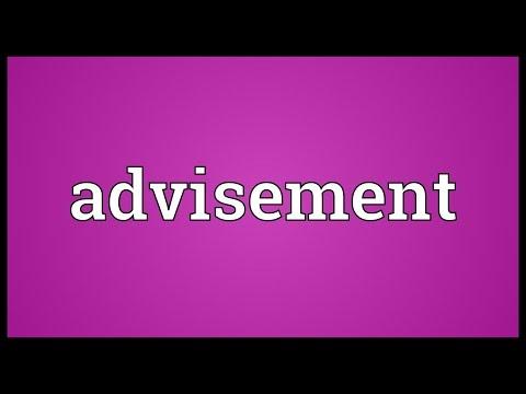 Header of advisement