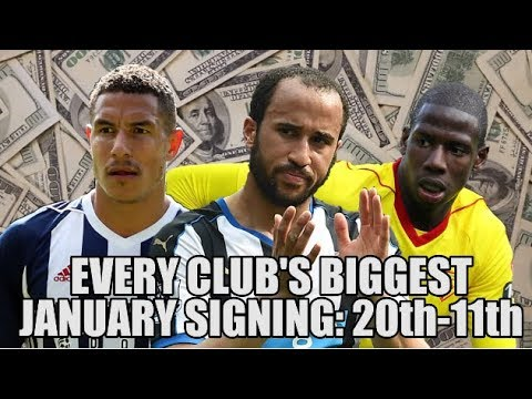 EVERY Premier League Club's Record JANUARY Signing (Part 1: 20th - 11th)