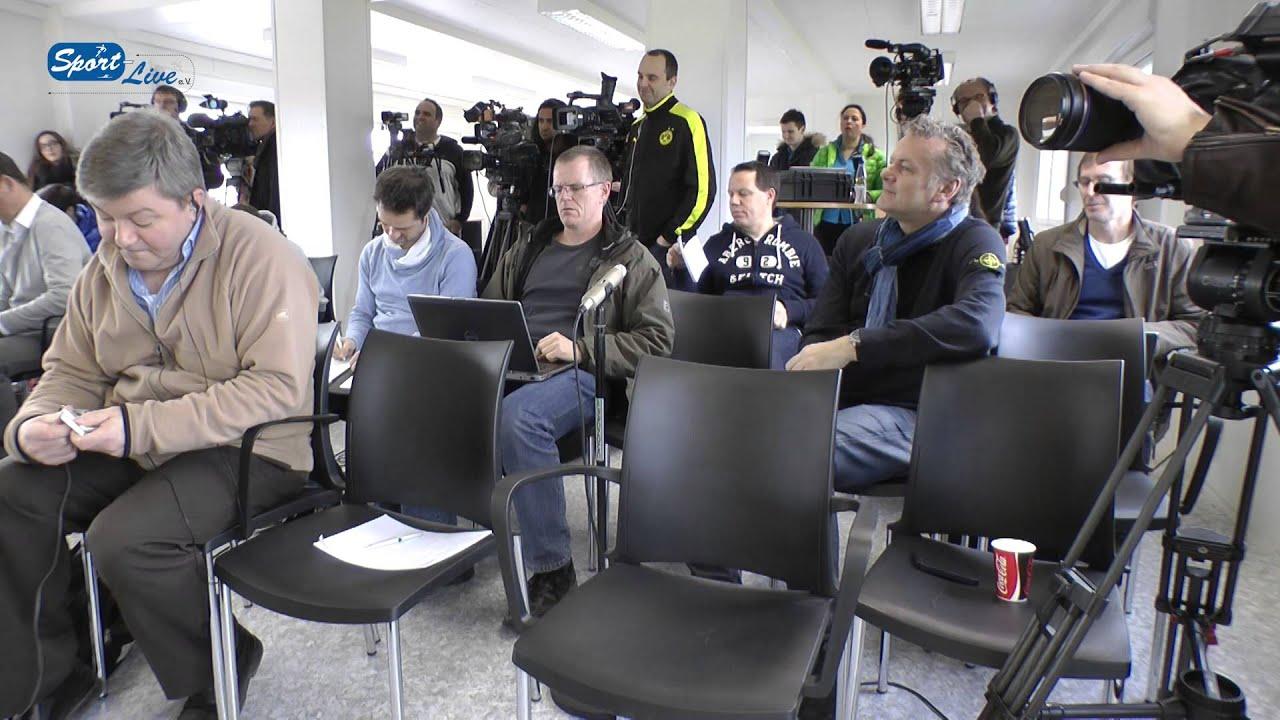 BVB Pressekonferenz vom 04. April 2013 vor dem Spiel Borussia Dortmund gegen den FC Augsburg