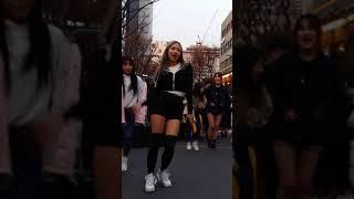 2018.2.18&걷고싶은거리&홍대&공차앞&여성댄스팀&Diana(은희)&by큰별