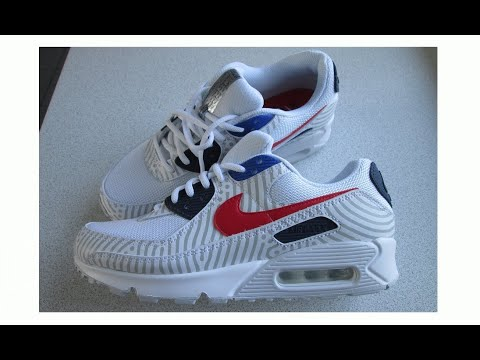 Nike Air Max 90 Euro Tour 2020 Special Edition Trainers Shoes Sneakers, Latest Nike. CW7574-100