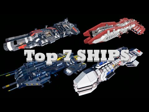 Top 7 best performing ships in DEATH TEST 3.0 (Space engineers)