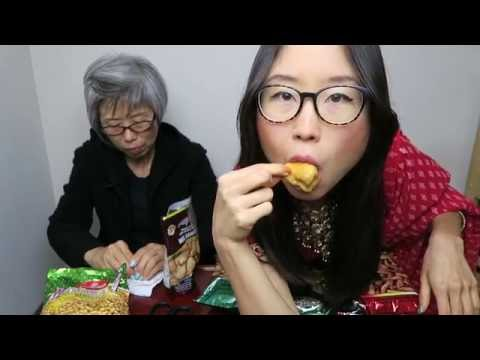 Trying Indian Snacks for the First Time   MUKBANG